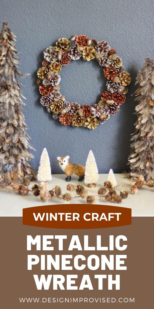 DIY Christmas Pinecone Wreath