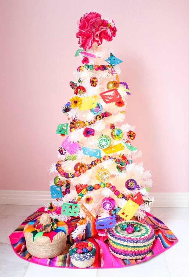 Fiesta Christmas Tree Decorating Ideas Design Improvised