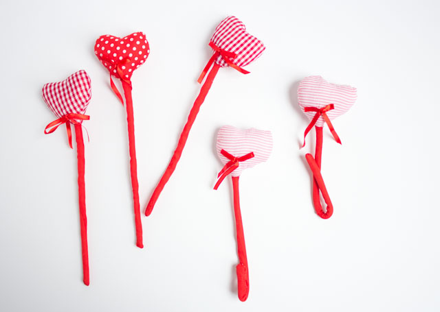 Sweet plush hearts from Oriental Trading