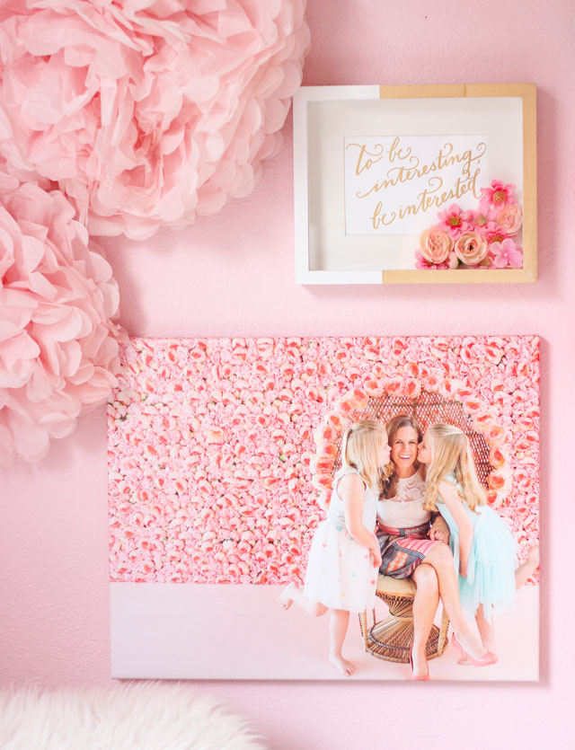 Make a special Mother's Day photo canvas gift with CanvasPeople! #ad #mothersdaygifts