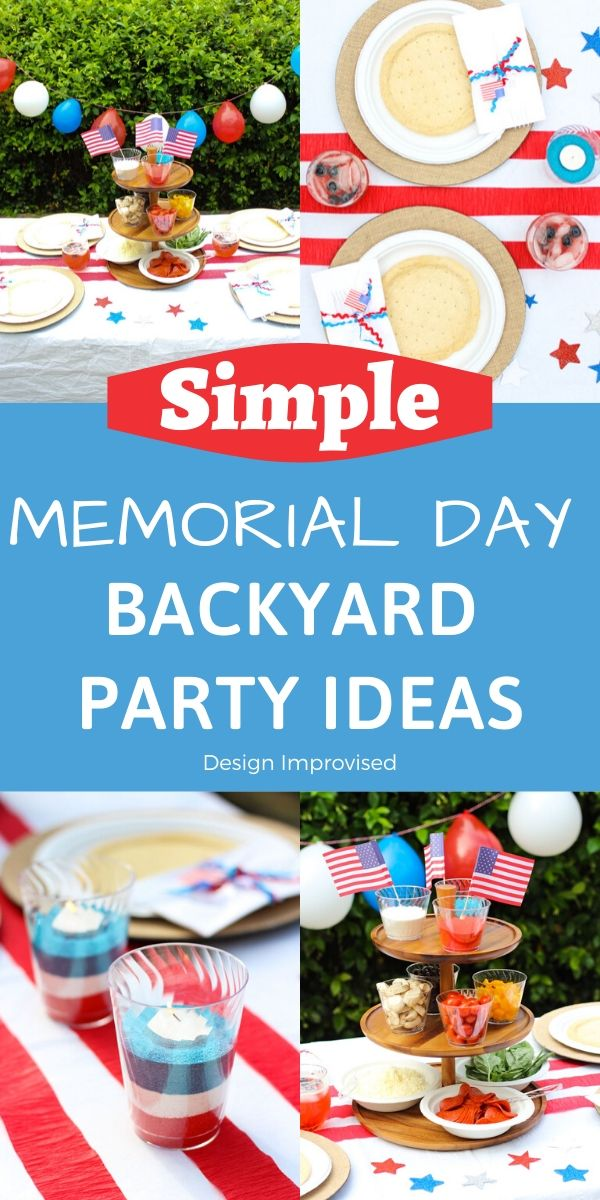 Memorial Day Backyard Party Ides