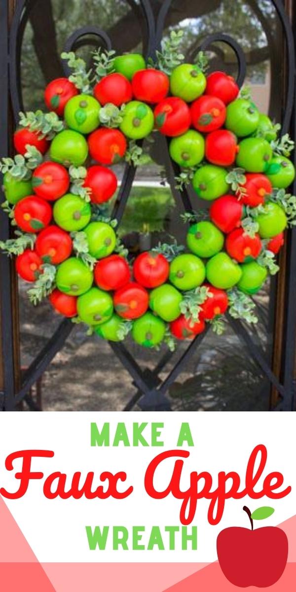 DIY Faux Apple Wreath