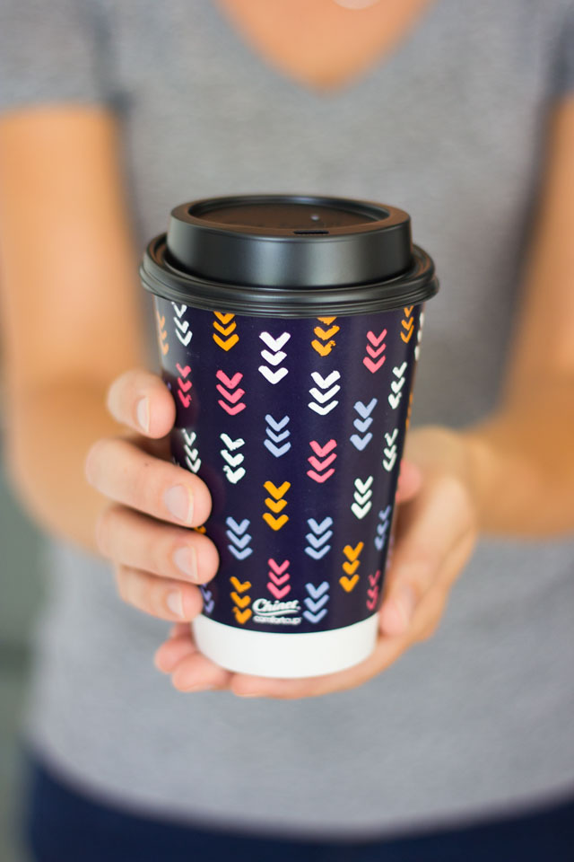 Chinet's new insulated disposable coffee cup design is so cute! #Chinet #coffeecup