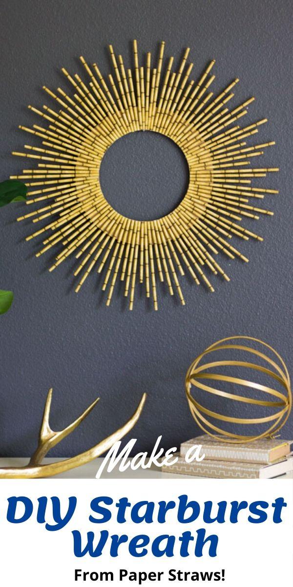 DIY Starburst Wreath from Paper Straws