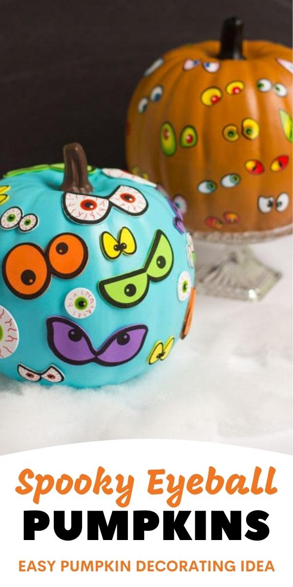 Spooky Eyeball Pumpkins