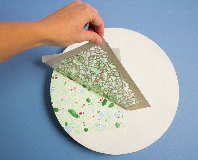 How to make stenciled terrazzo gift boxes #terrazzo