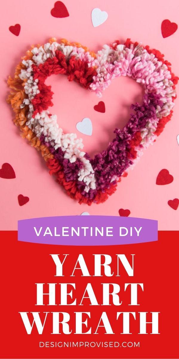 DIY Yarn Heart Wreath
