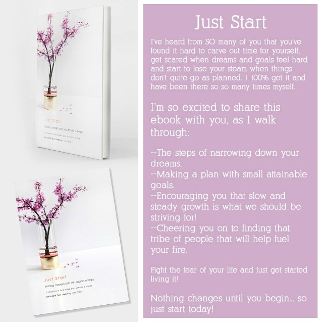 Just Start e-book from Amy Weir of Delineate Your Dwelling