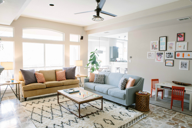 Light and airy living room design