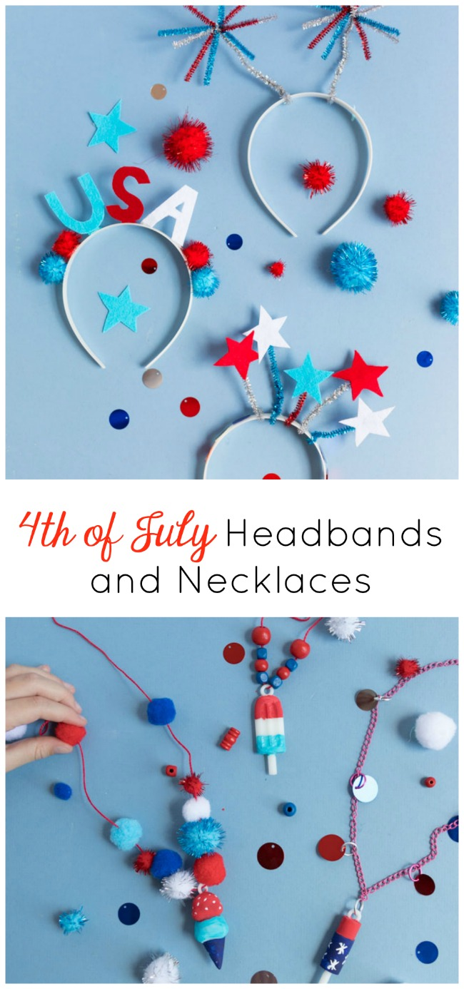 4th of July headbands and necklaces