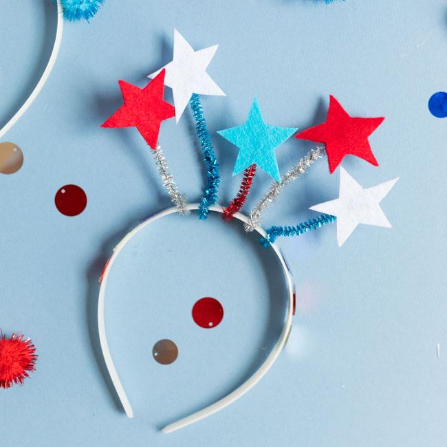 Patriotic star headband for 4th of July
