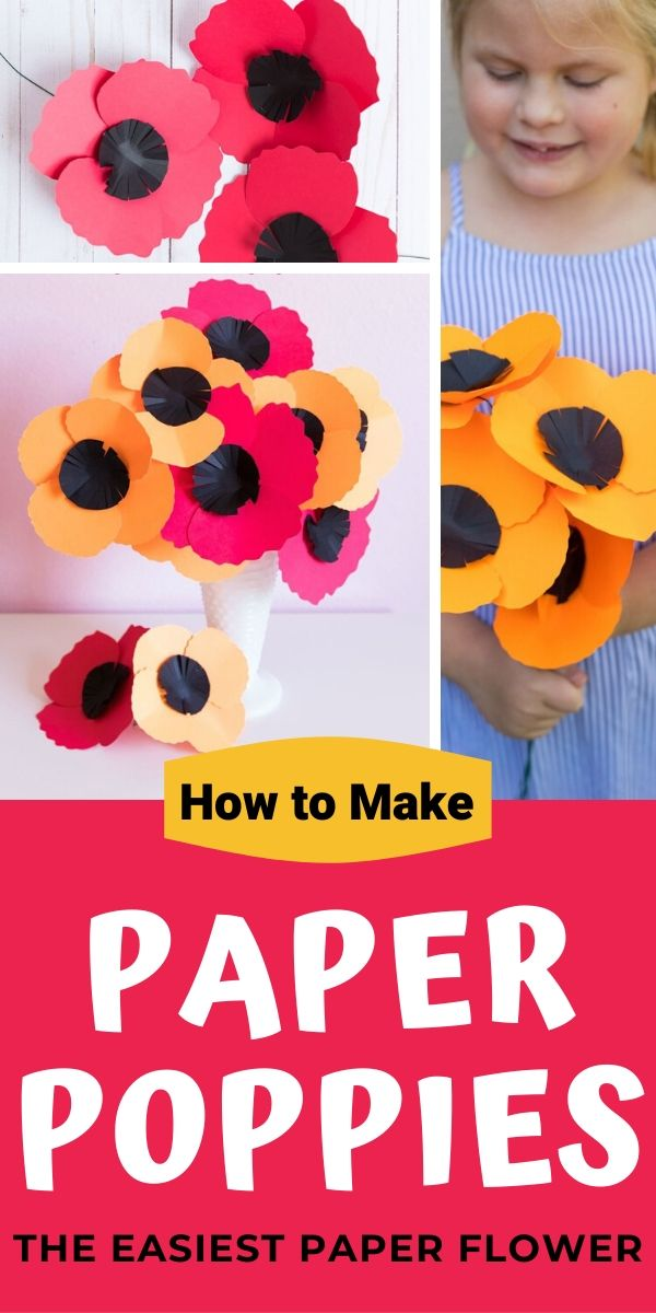 DIY Paper Poppies for Memorial Day