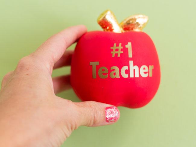 Personalized apple teacher gift idea