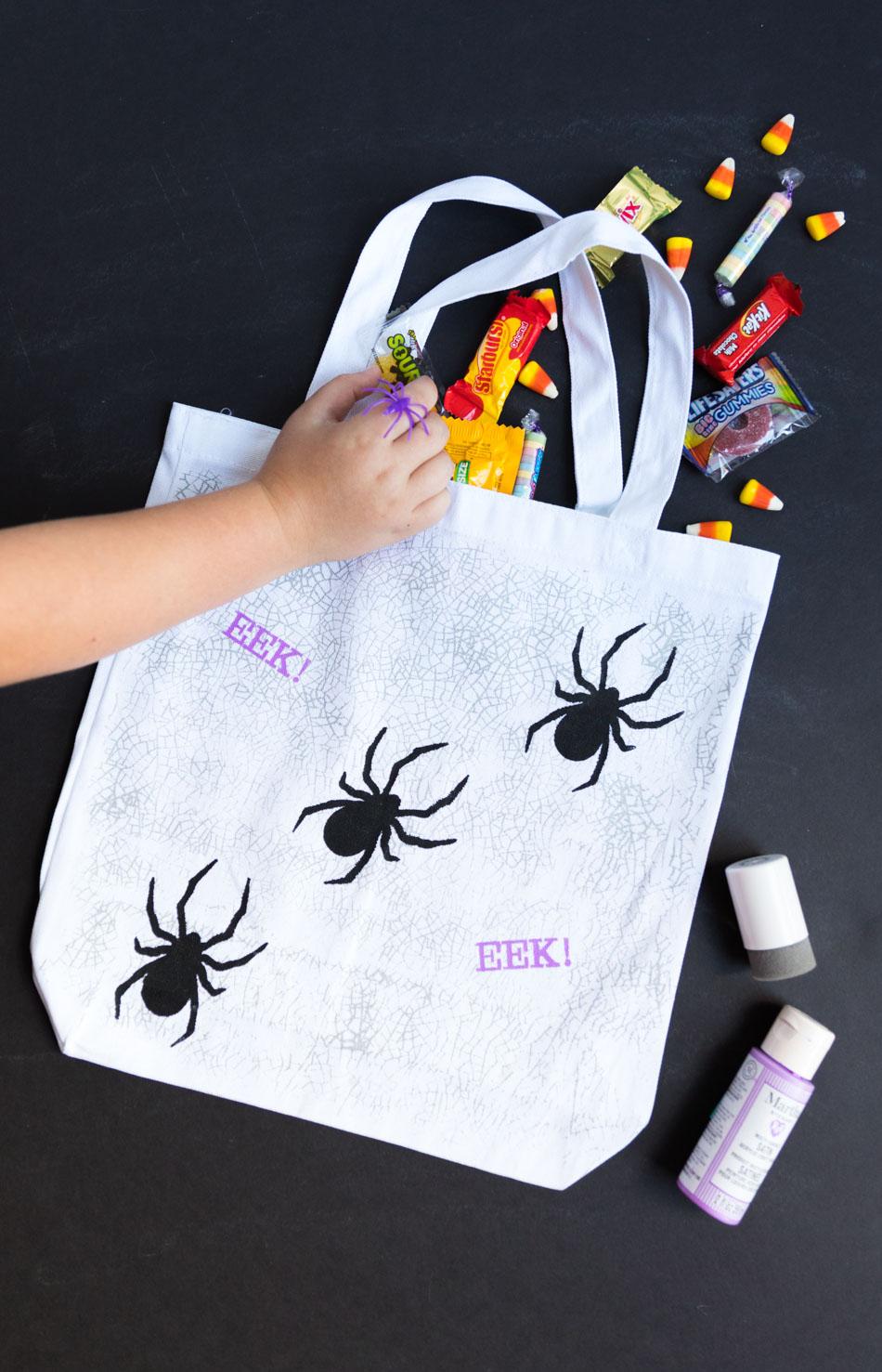 DIY Spider Trick or Treat Bag