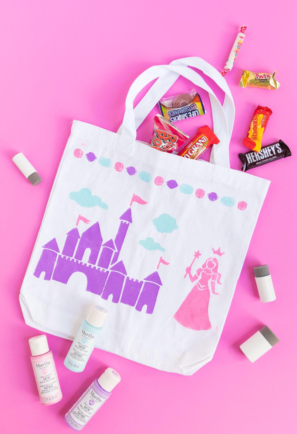 DIY Princess Trick or Treat Bag