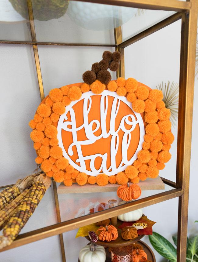 Hello Fall Pom Pom Pumpkin