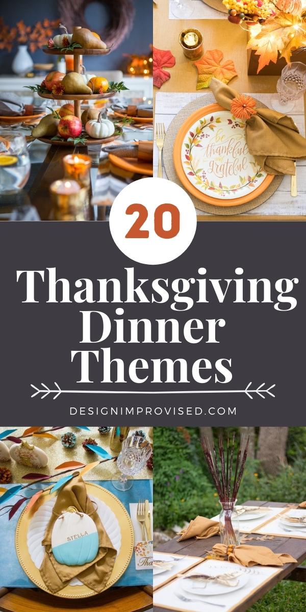 20 Thanksgiving Dinner Themes