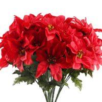 Faux Poinsettia Flowers
