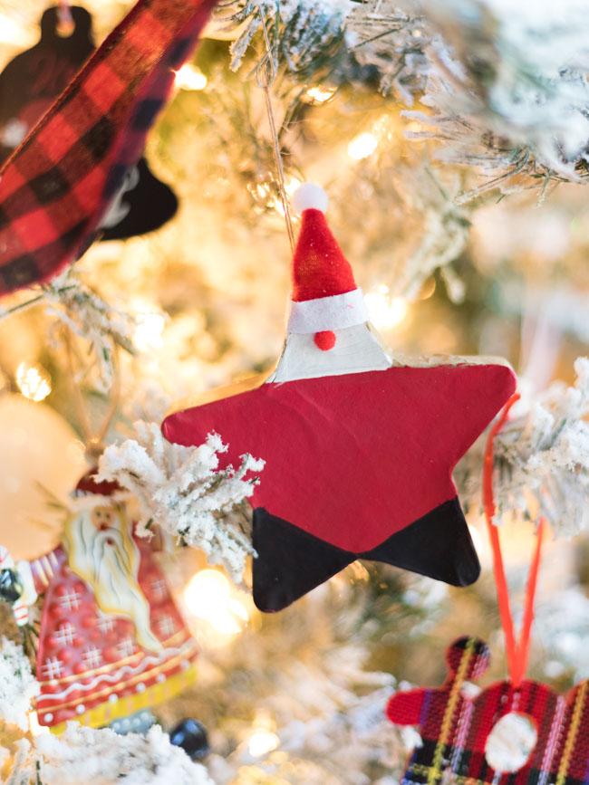 DIY Santa Star Ornament