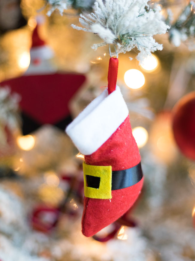 DIY Santa Boot Ornament