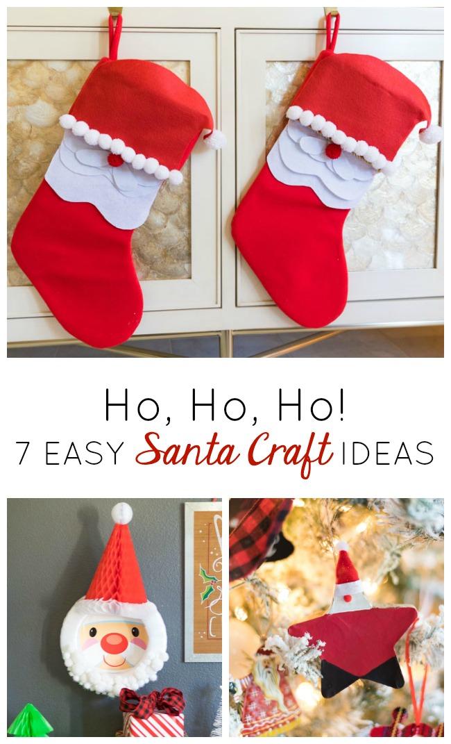 7 easy Santa craft ideas
