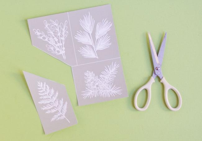 Martha Stewart Winter Greens silkscreen stencils
