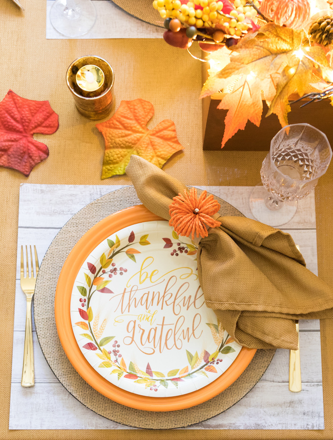 Thankful and Blessed Thanksgiving Table Decor