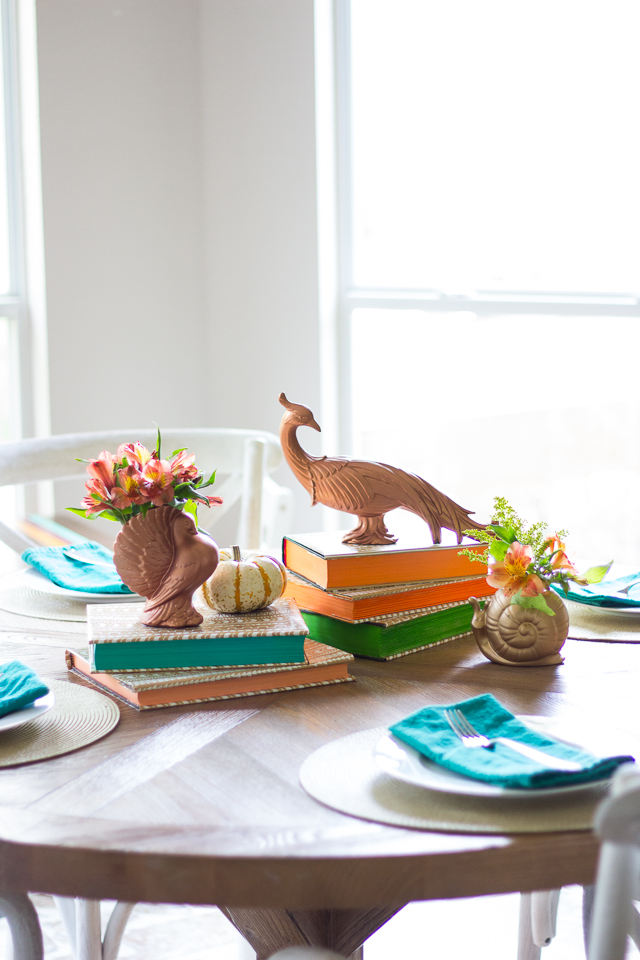 Thrifted Thanksgiving Decor