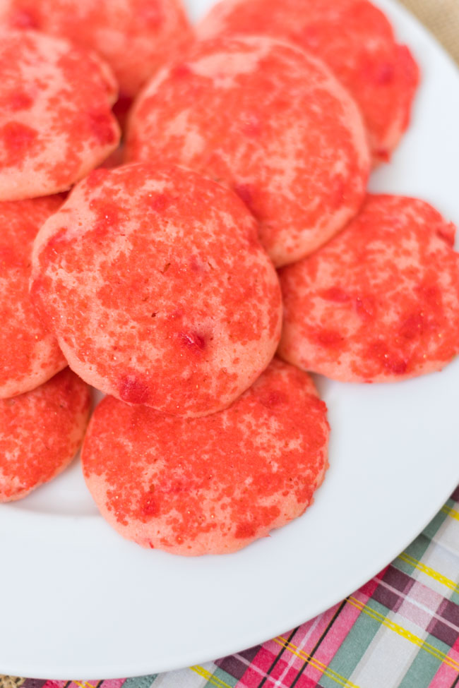 Cherry Icebox Cookies inspired by Collin Street Bakery