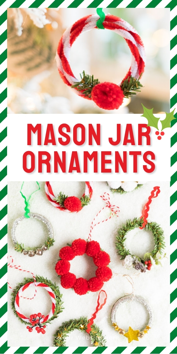 DIY Mason Jar Christmas Ornaments