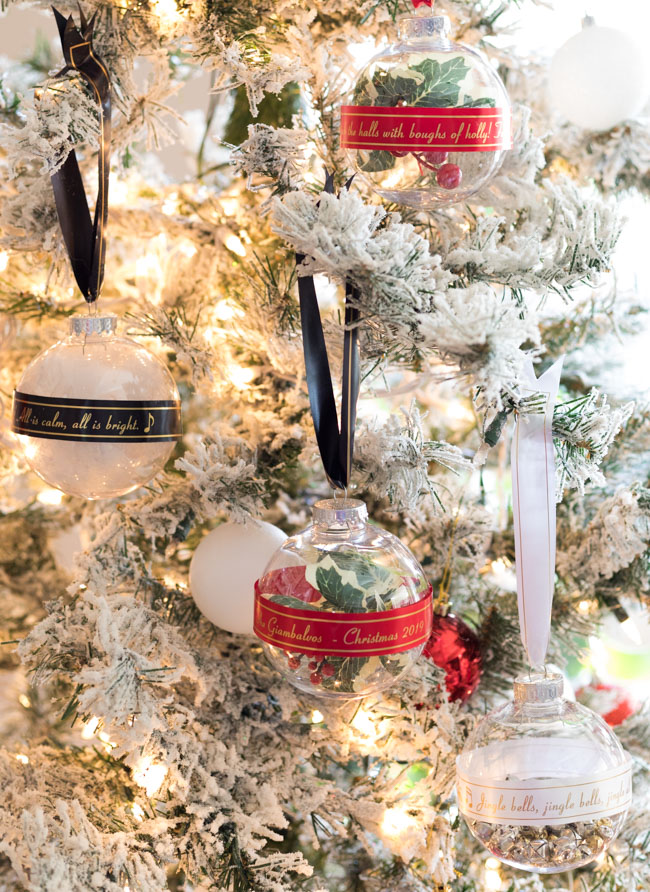 DIY Ribbon Tree Ornaments with Brother Label Maker