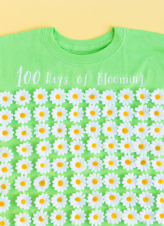 100 days of blooming shirt for 100th day of school