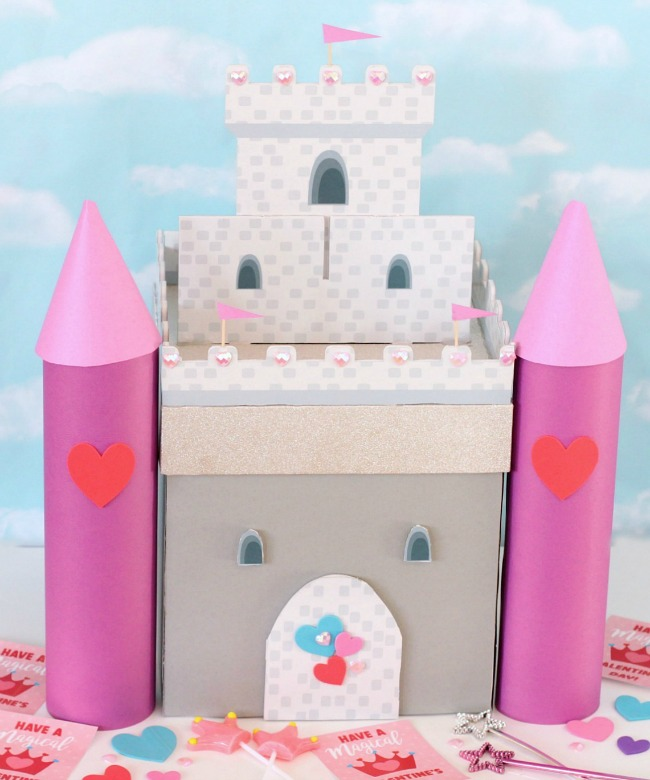 Castle Valentine Card Box Idea for Girls