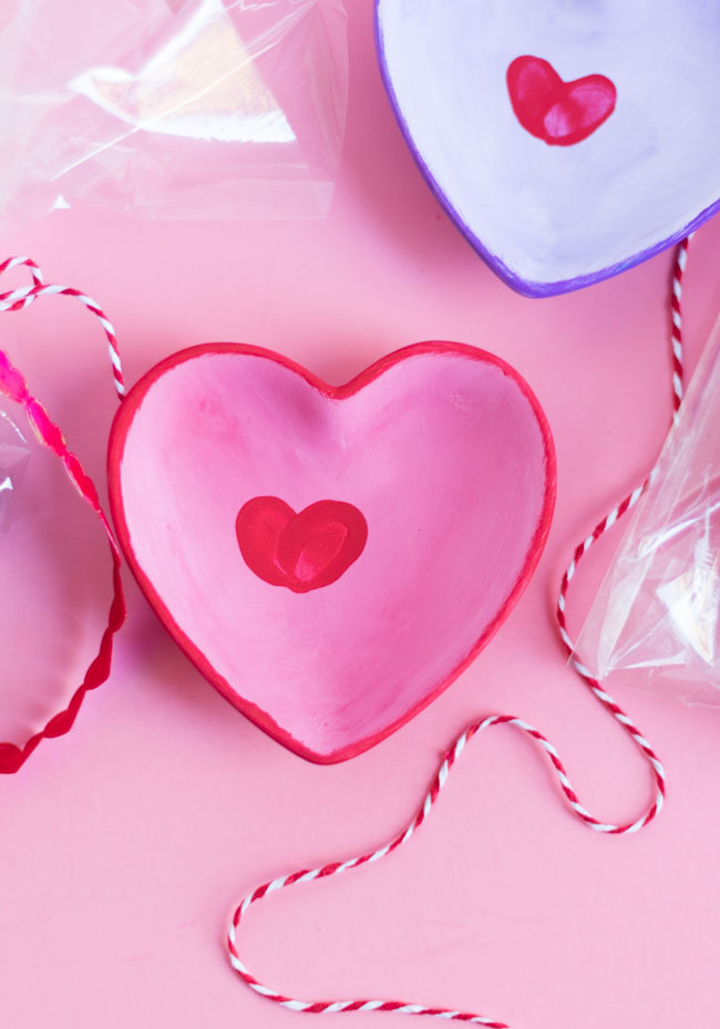 Fingerprint hearts kids craft idea for Valentine's Day