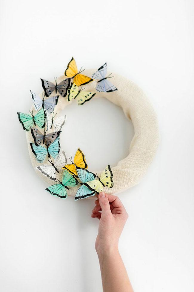 DIY Burlap Butterfly Wreath