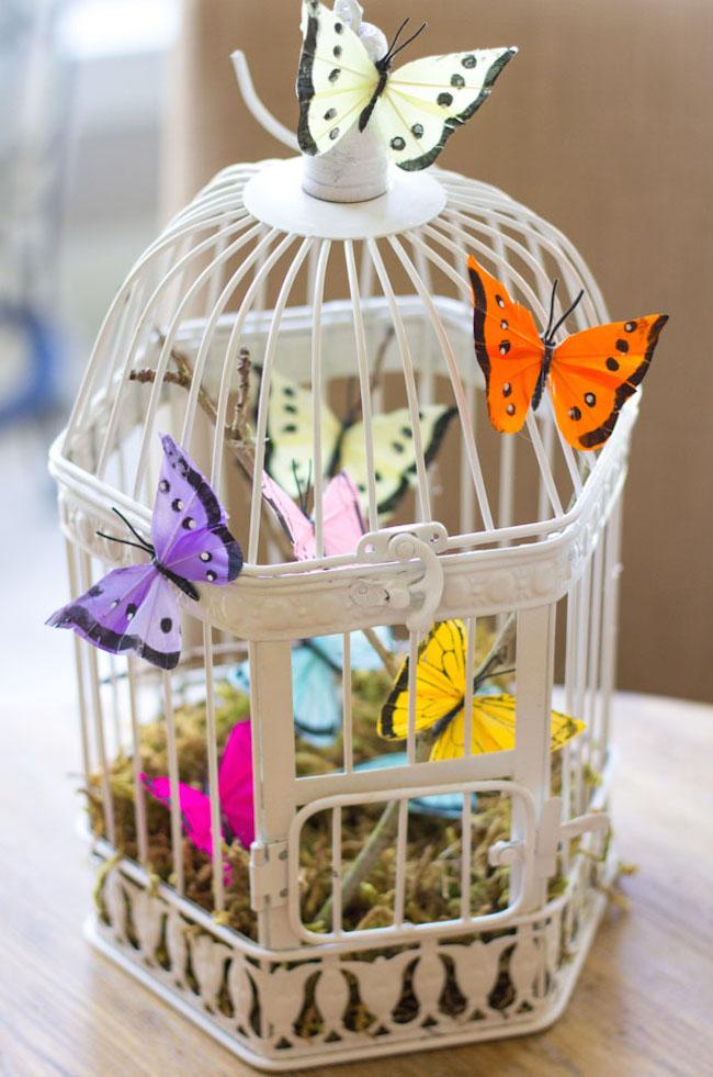 DIY Butterfly Birdcage Spring Craft