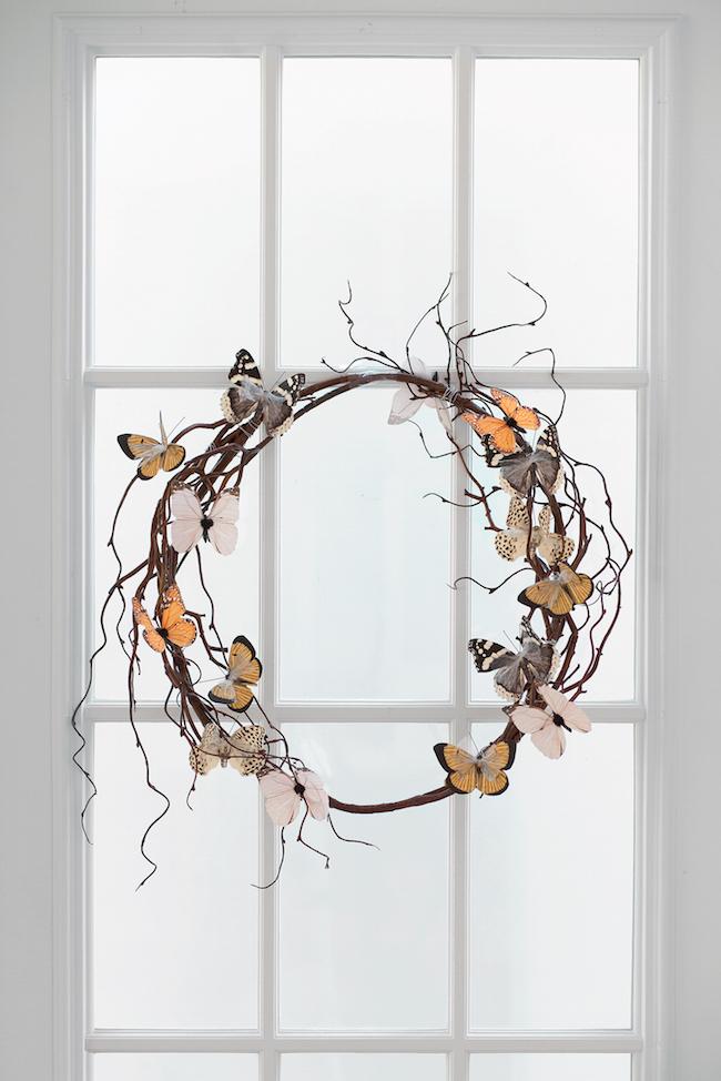 DIY Rustic Butterfly Wreath