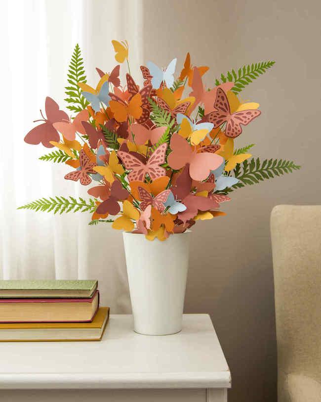 DIY Paper Butterfly Bouquet