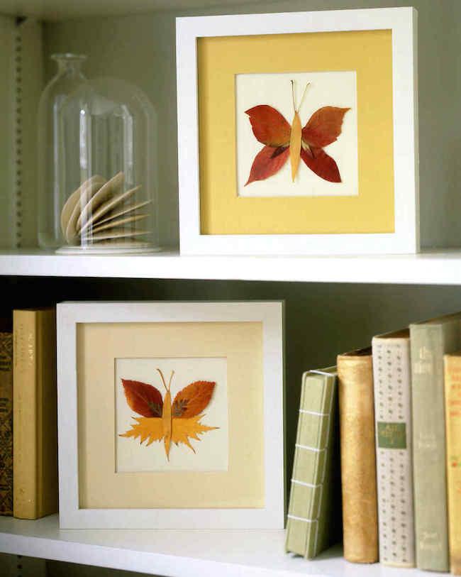 DIY Pressed Leaves Butterfly Art