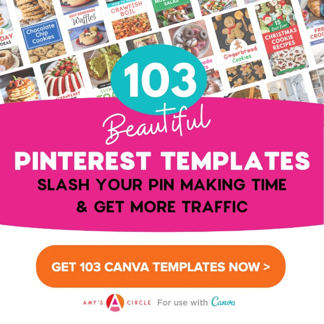 Beautiful Pinterest templates for Canva