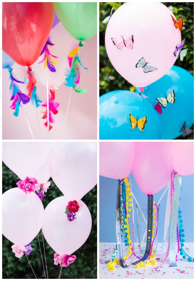 DIY helium balloon decoration ideas