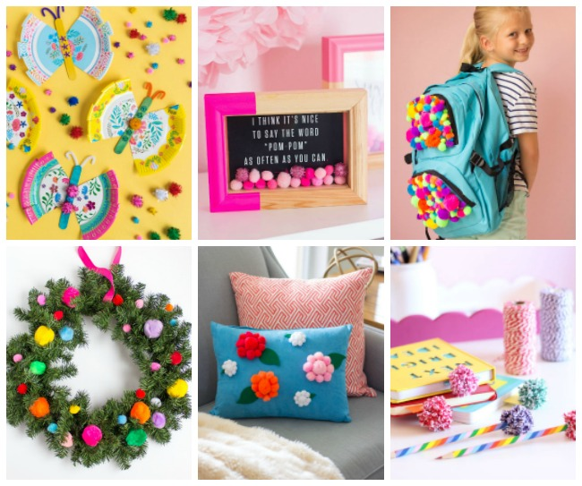 DIY Pom Pom Craft Ideas at Design Improvised