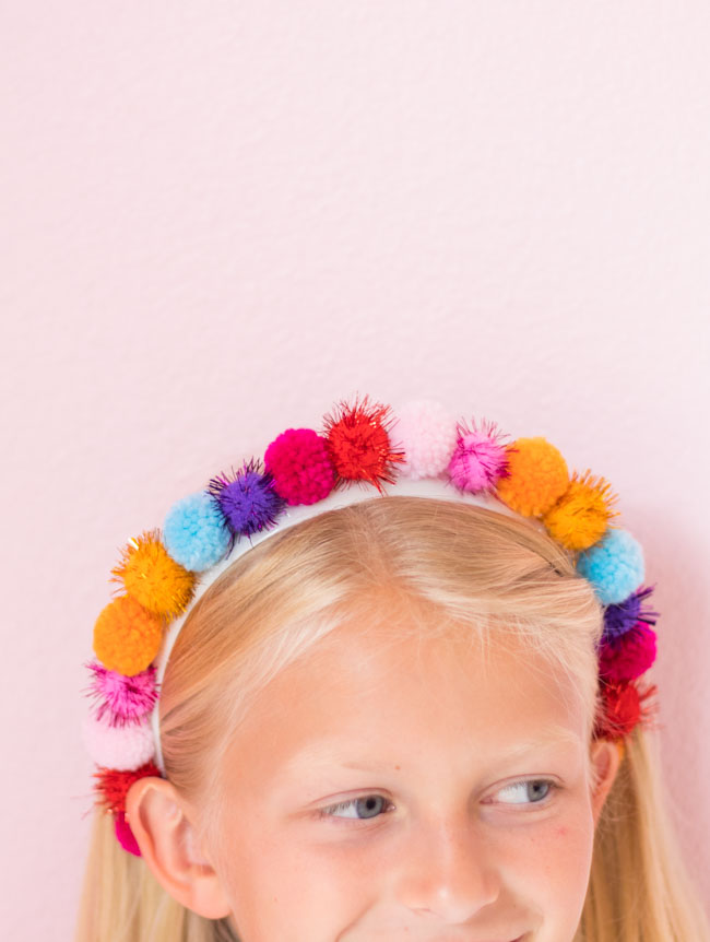 DIY pom-pom headband for kids