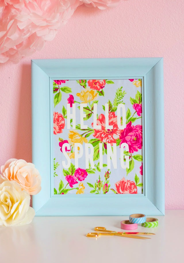 DY spring fabric art