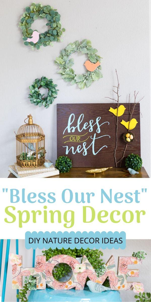 DIY Bless Our Nest Bird Decor Ideas