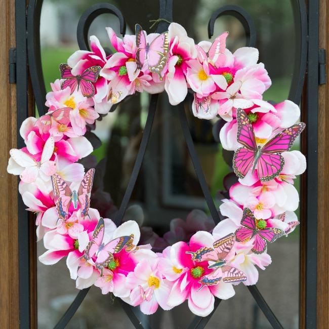 DIY Butterfly Flower Wreath
