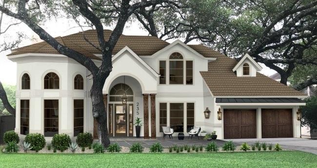 Brick and Batten exterior house front design
