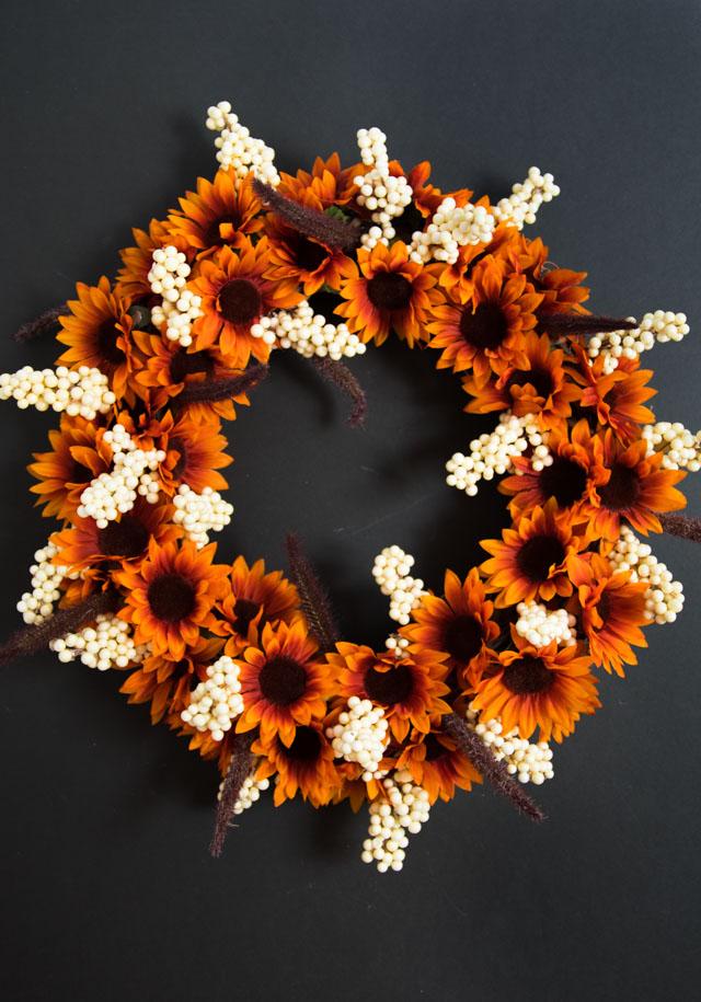 Dollar Tree Fall Wreath for Under $20