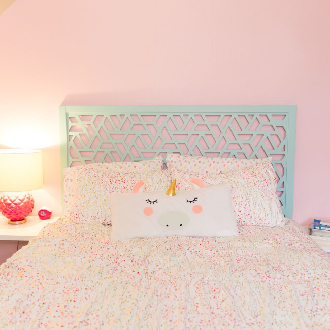 Pastel pink accent wall in Sherwin Williams Impatiens Petal