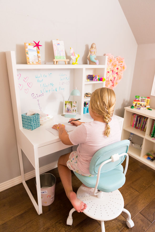 IKEA Micke Desk in kids bedroom